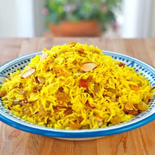 Claudia Roden's Riz au Saffran - Saffron Rice.