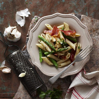 Asparagus Penne with Garlic Crumbs