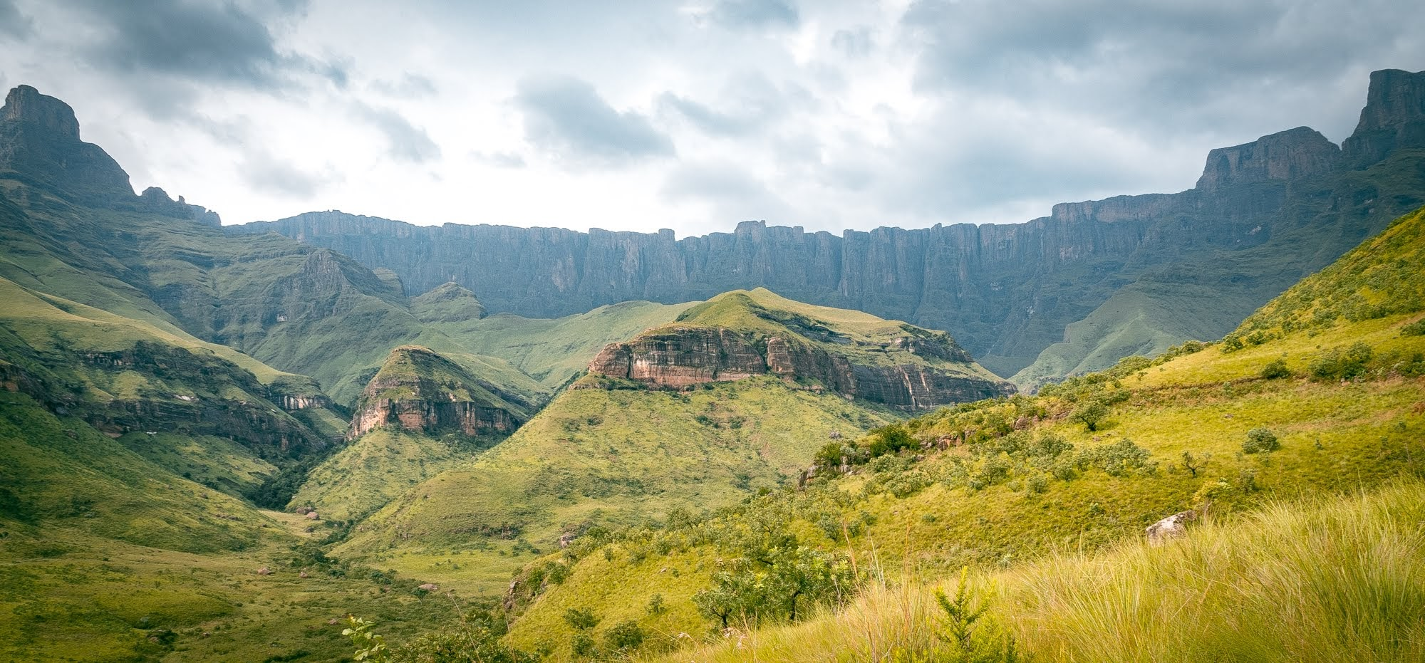 The Amphitheatre formation in Drakensberg, South Africa
