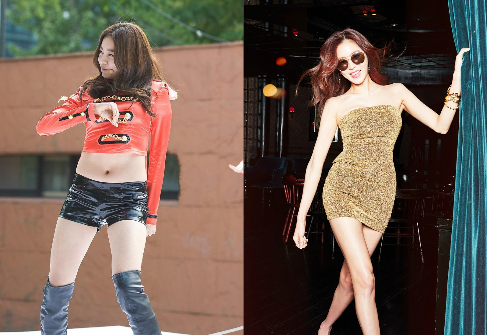 10 Female Idols Before and After
