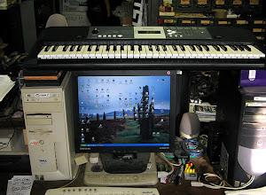 Photo: MIDI Keyboard bridges computers to save space. MIDI ReadeR Plays it http://youtu.be/HGOBGjMR9ps