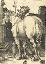 Photo: Albrecht Dürer (German, 1471 - 1528 ), Large Horse, 1505, engraving on laid paper, Rosenwald Collection