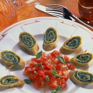 Pfannkuchen mit Petersilien-Pesto
