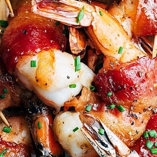 Bacon-Wrapped Shrimp with Bourbon Glaze Recipe