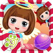 Rolling candy ball puzzle game