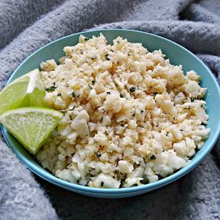 Coconut Lime Cauliflower Rice.