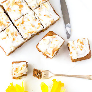 Carrot Cake with Whipped Coconut Frosting {AIP, Paleo}