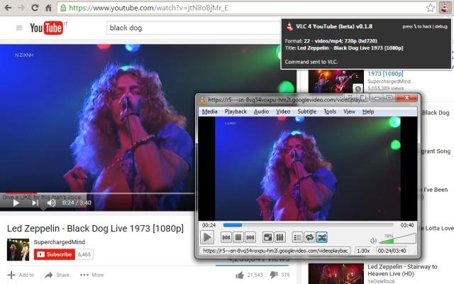 VLC 4 YouTube (beta) chrome extension