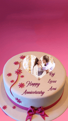 Name Photo On Anniversary Cake - screenshot