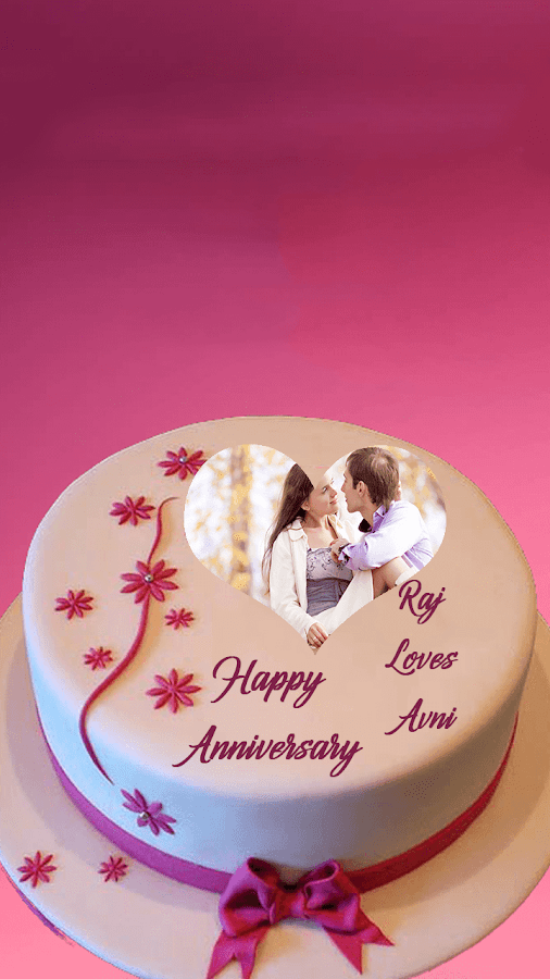 Anniversary Couple Cake Images : Name Photo On Anniversary Cake - Android Apps on Google Play