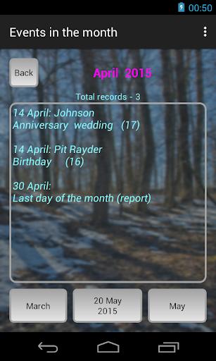 Calendar-reminder screenshot