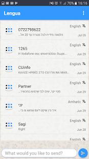 Lengua - Přeložit zprávy - Překlad SMS - náhled