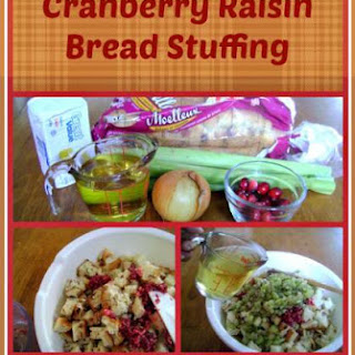 Cranberry Raisin Bread Stuffing