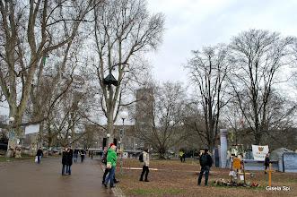 Photo: Vor der Demo ein Rundgang im Schlossgarten