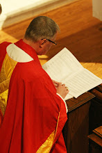 Photo: Bishop Breidenthal kneels for the Litany for Ordinations