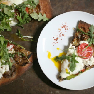Delicious Homemade Brunch Pizza With Prosecco