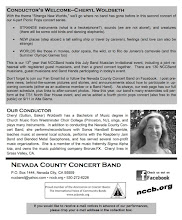 "Photo: Nevada County Concert Band's 7/24/2016 ""Strange New Worlds"" concert – program 3"
