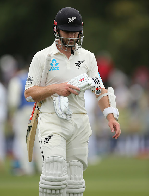 New Zealand's Kane Williamson walks off dejected after losing his wicket in a past match