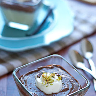 Dark Chocolate Vanilla Bean Pudding.