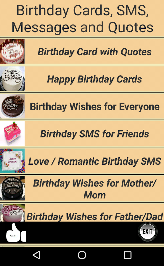 Happy Birthday Cards Quotes Android Apps on Google Play – Text for Birthday Card