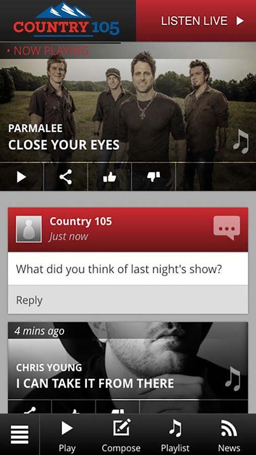 Country 105- screenshot