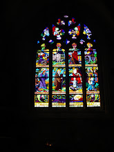 Photo: Stained glass inside the parish church.