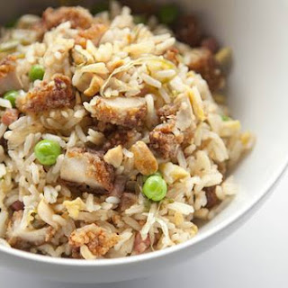 Fried-Chicken Fried Rice with Pickled Scallions and Ham Recipe