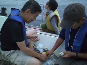 Photo: 前さんと梅さんはスバルザカップ用に陸電用のコネクターの製作