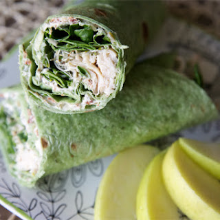 Chicken, Spinach and Cream Cheese Tortilla Wrap.