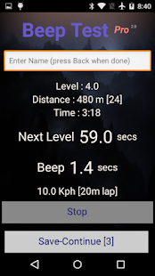Beep Test Pro Screenshot