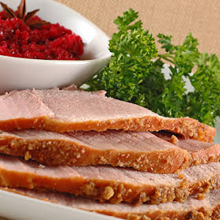 Crumb-Crusted Baked Ham.