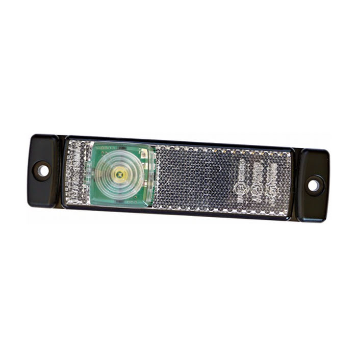 Positionslykta 12V LED med reflex 130x32 mm