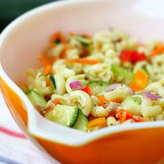 Simple Macaroni Salad Recipe Without Mayo..