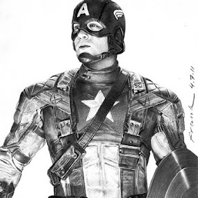 Captain America - The First Avengers by Franky Go - Drawing All Drawing ( super hero, 2011 movie, hero, america, capt. america, movie, actor, steve rogers, marvel, chris evans, captain america - the first avengers, avenger, superhero )