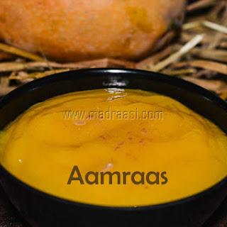 Aamras / Mango Puree / Home made Aamras for poori – Mango Recipes.