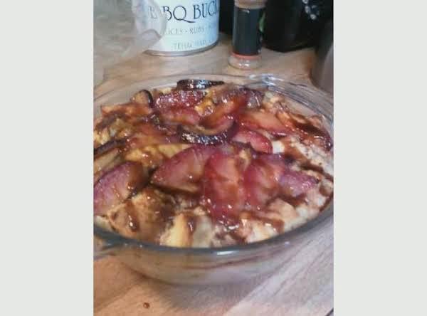 Meyer Lemon Bread Pudding With Stone Fruit Recipe