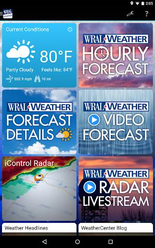 WRAL Weather Screenshot