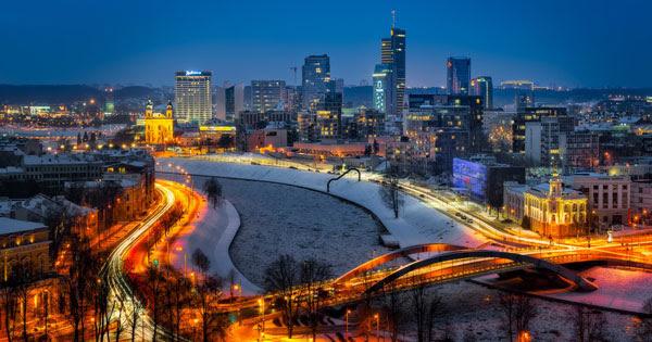 Вильнюс зимой - Литва