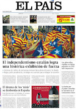 Photo: El independentismo catalán logra una histórica exhibición de fuerza, el drama de los 'ninis' se desborda en España y Rajoy subirá el IRPF a las plusvalías rápidas en Bolsa, en nuestra portada http://srv00.epimg.net/pdf/elpais/1aPagina/2012/09/ep-20120912.pdf