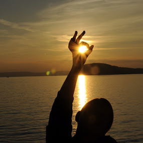 sun in my hand by Dijana Zekan - Uncategorized All Uncategorized ( sunset,  )