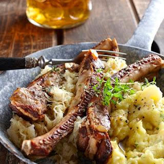 Crockpot Country Style Ribs With Sauerkraut.