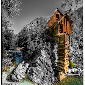 Crystal Mill, Colorado  by Chad Weisser - Travel Locations Landmarks ( crystal river in gunnison county, lost horse millsite, pwclandmarks, crystal river, colorado, aspen, george c. eaton and b.s. phillips, ron weisser, weisser photography, crystal mills, crystal mill, old crystal mill, lost horse mill, co road 3, sheep mountain power house, co 81623,  )