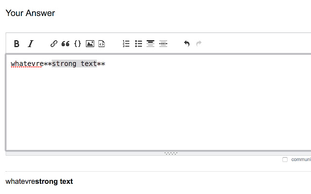No StackExchange Editor Keyboard Shortcuts