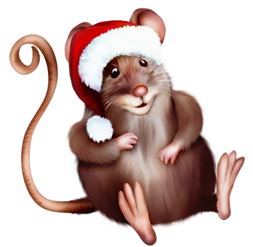 Mouse With Santa Cartoon GHry_p_xi1jPx2lExB0S