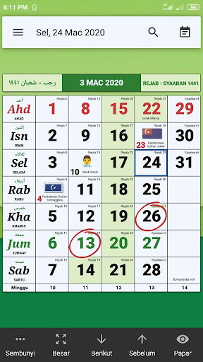 Calendar Malaysia & Memo ss3
