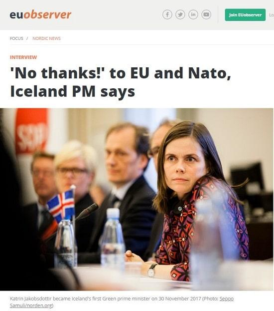 Islande - UE - Premier ministre Katrín Jakobsdóttir
