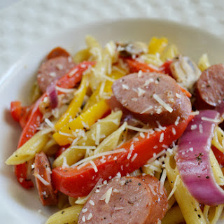 Smoked Sausage with Penne Pasta