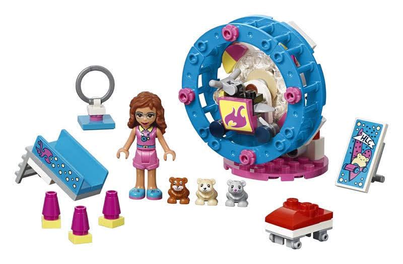 Contenido de Lego® 41383 Parque del Hámster de Olivia