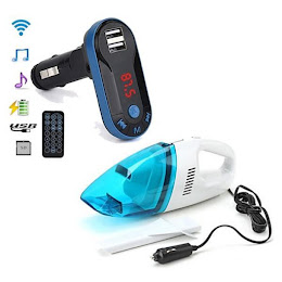 Modulator FM mp3 player cu incarcator + Aspirator Auto