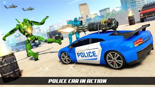 US Police Horse Robot Car Transform Robot Games 3